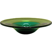 Vintage Murano Bowl Two Toned Green 1950-60s Good Condition