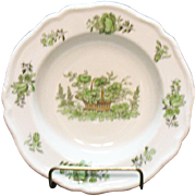 Vintage Spode Copeland 12 Cereal/Fruit Bowls Bone China Green Basket Pattern #8135 Very Good Condition