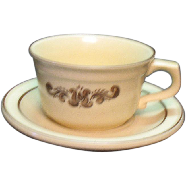 Vintage Pfaltzgraff 13 Cups & Saucer Sets Village Pattern 1970s Good Condition