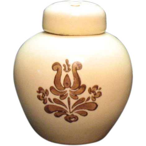 Vintage Pfaltzgraff Potpourri Jar with Lid Village Pattern 1970s Good Condition
