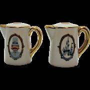 Vintage Ceramic Walt Disney Souvenir S&P Shakers Disneyland 1960s Very Good Condition