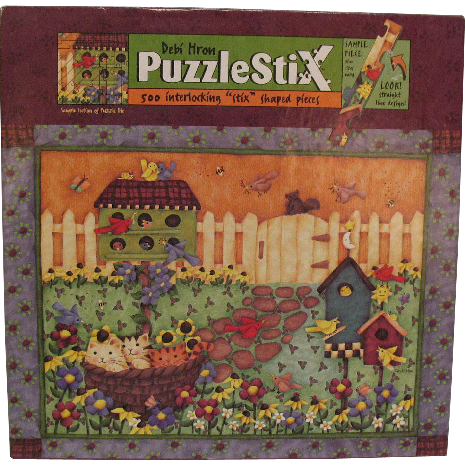Vintage Debi Hron Puzzlestix Puzzle Not Opened 500 Pieces 27 by 20 Inches