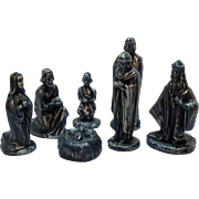 Vintage Kinzie Wax Candles Nativity Display Very Good Condition