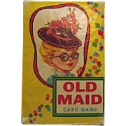 Vintage Old Maid Card Game 1950s Good Condition