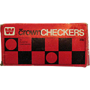 Vintage Crown Checkers by Whitman Publishing Co Hard Plastic 1969 Original Box Good Condition