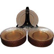 Vintage Arc International Arcoroc France Pink Swirl Rim Soup bowls 1960-70s Very Good Condition