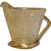 Vintage Jeannette Creamer in the Louisa Iridescent Floragold Pattern 1950s Very Good Condition