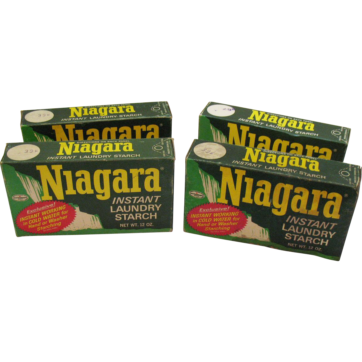 Vintage 4 Boxes Niagara Laundry Starch from Early 1960s Never Opened Good Condition