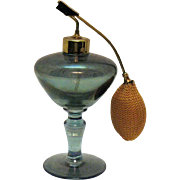 Vintage Iridescent Blue Perfume Bottle