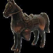 Vintage Large Pot Metal Horse Copper Wash 1950s No Damage
