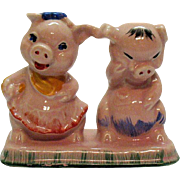 Vintage Regal China Co. for C.Miller Pigs S&P Shakers Single Base 1940-50s Good Condition