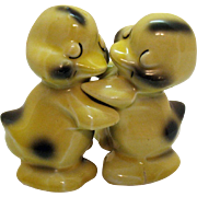 Vintage VanTellingen Hugging S&P Duck Shakers Made by Regal China Co.1950s