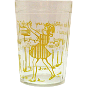 Vintage Hazel Atlas Nursery Rhyme Glass 1930-50s Good Condition