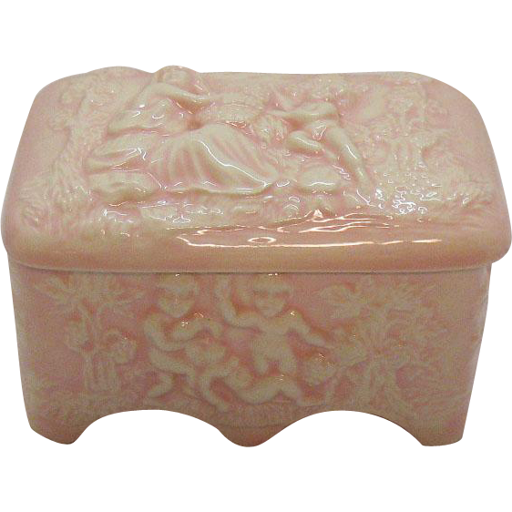 Vintage Ceramic Vanity or Trinket Box Italian 1960s