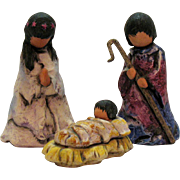 Vintage Ted DeGrazia 3 Piece Goebel Nativity Scene 1984 Good Condition