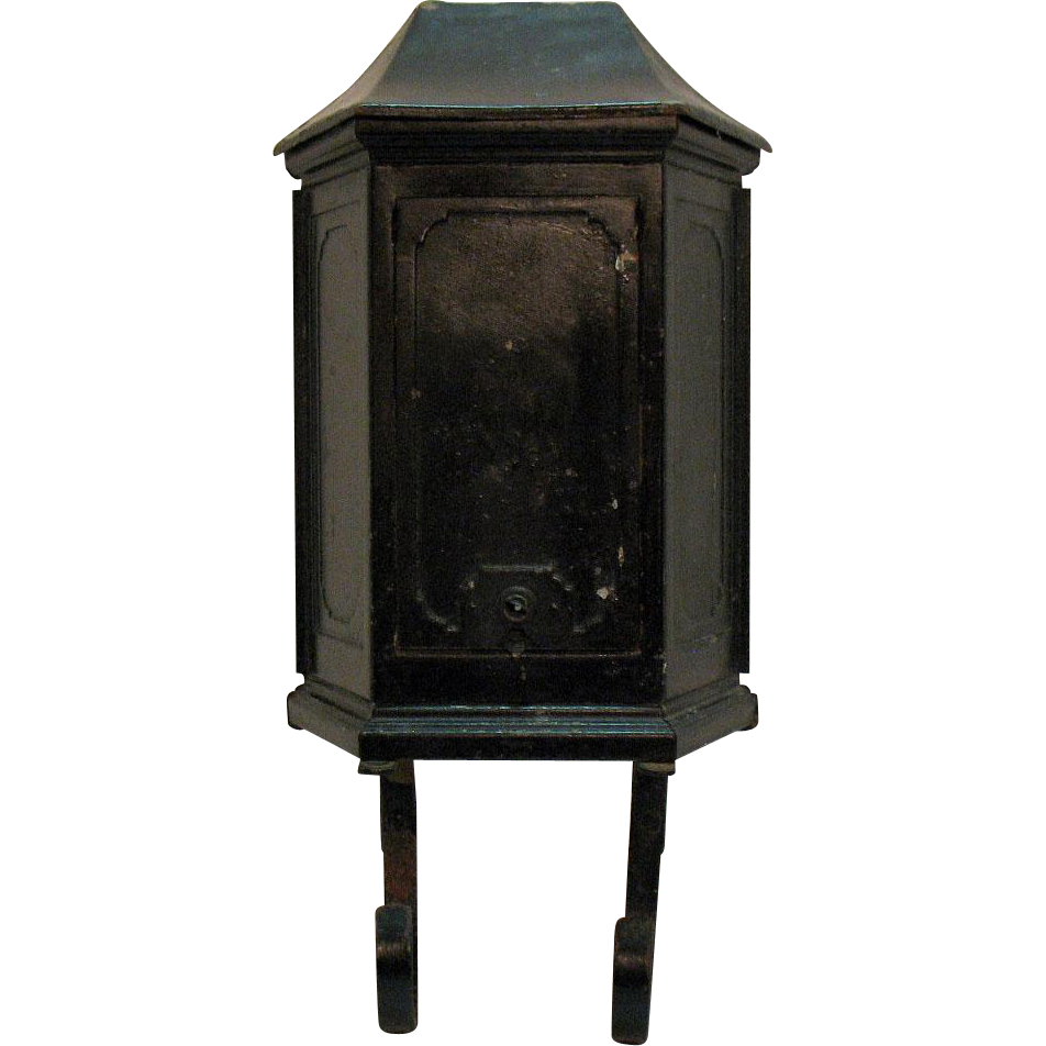 Vintage Metal Mail Box P.N. Co. 1920-50s Good Condition