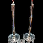 Vintage Mercury Glass Candles 2 Pair 1930-50s Good Vintage Condition