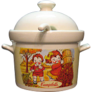 Vintage Campbell Soup Ceramic Tureen with Ladle Good Condition