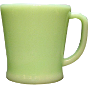 Vintage Anchor Hocking Fire King Jade-ite D Handled Shaving Mug 1946-58 like New Condition
