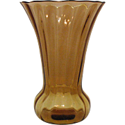 Vintage Fenton Rib Optic Vase 1930s Very Good Condition