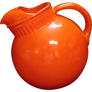 Vintage Anchor Hocking Rainbow 80 Oz. Red Ball Jug 1938-50s Good vintage Condition