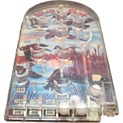Vintage Pin Ball Game Wing Shot by Bagatelle Made by Marx Toy Co. 1960s Good Playable Condition