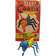 Vintage Giant Cootie Game/Banks Schaper Mfg. Co. 1949 Good Condition