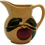 Vintage Watt Pottery #62 Creamer with Apple Motif 1952-62