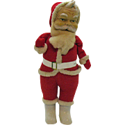 Vintage Standing Santa Plastic Face & boots 1950-60s Very Good Condition