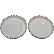 One Vintage Fenton Milk Glass Silver Crest Shrimp/Chip Bowl 1942-86 like New Condition
