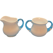 Vintage Fenton Milk Glass Silver Crest Sugar & Creamer 1942-86 Good Vintage Condition