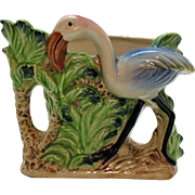 Vintage Flamingo Ceramic Planter by Florart 1950s Good Condition