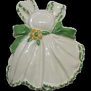 Vintage Ceramic Apron Wall Pocket by Conrad Potteries 1940-50s Very Good Condition