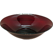 Vintage Anchor Hocking Royal Ruby Salad Bowl 1940-50s like new Condition