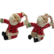 Vintage Santa Claus Candle Climbers 1957 NAPCO Very Good Condition