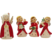 Four Vintage Christmas Girl Angels 1950s Good Condition