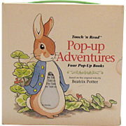 Vintage Touch N Read Pop-up Books Adventures Set of Four 1994 Like New Condition