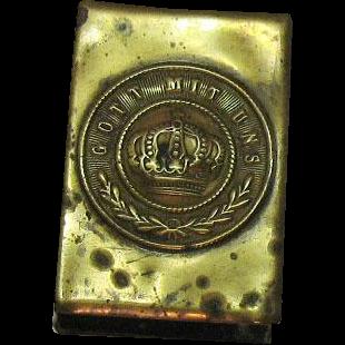 Vintage Brass German Match Holder 1914-18 Used Vintage Condition