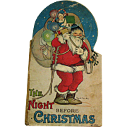Vintage Antique Christmas book The Night before Christmas 1917 Fair Vintage Condition
