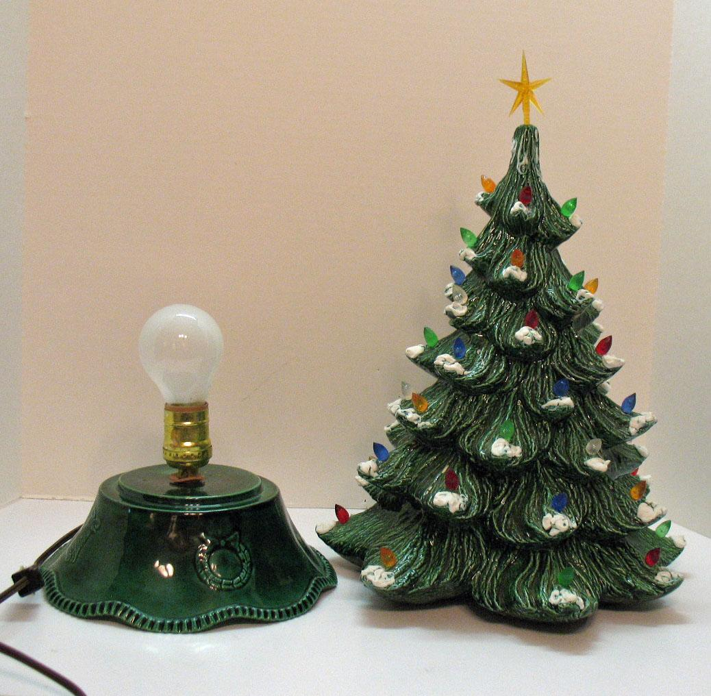 Vintage Ceramic Christmas tree with Faux Plastic Lights ...