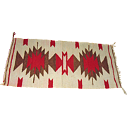 Vintage Navajo Indian Rug Gallup Throw Rug 1930s Good Condition
