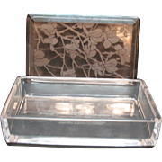 Vintage Commemorative Glass Box made by Val St. Lambert for Tiffany and co. 1982