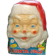 Vintage Hard Plastic Illuminated Santa Light Never Used 1980 Good Condition