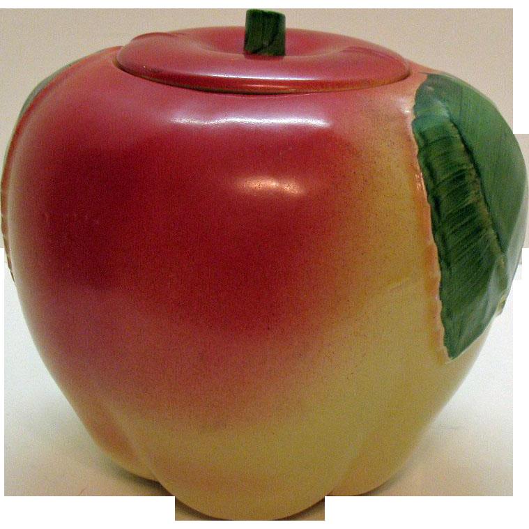 Vintage 1950s Hull Apple Cookie Jar Good Condition