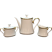 Vintage Lenox Tea/Coffee Pot Sugar & Creamer Set Eternal Pattern 1960-70s Very Good Condition