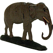 Vintage Lead Toy Elephant Figurine 1950-60s Good Condition