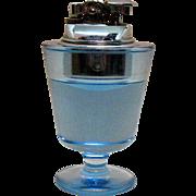 Vintage 1950s Blue Glass Lighter Penguin/Japan Good Condition