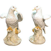 Vintage Pair Bisque Doves by Lefton 1960-83 Good Condition
