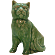 Vintage Green Colored Cat Planter 1930-40s Good Condition
