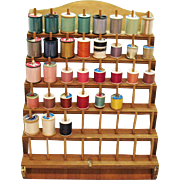 Vintage Wood 48 Thread/Spool Organizer 1970s